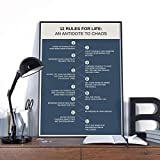 Wall decoration posters 12 Rules for Life Poster, 12 principles from Jordan Peterson Wall Art, 12 Rules Peterson Rules.