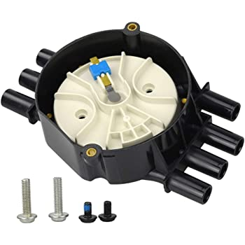 Motovecor Ignition Distributor Cap V6 and Rotor Kit Brass Terminals High Energy for Chevy Express 1500 GMC Jimmy Olds 96-07 4.3L V6 D328A 10452458 DR475