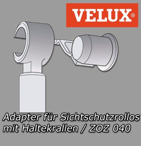 Original Velux Rollo Adapter für Sichtschutzrollo mit Haltekrallen ZOZ 040