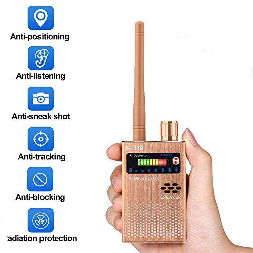 LIUDOU Drahtloser Detektor Spiondetektor Anti-Spionagesignal-Detektor GPS-Signal-Detektor Spionagefehler Kamera GPS-Funk-Scanner-Finder GSM-Geräte-Finder,Rosa
