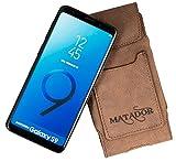 MATADOR Ledertasche Lederhülle kompatibel mit Galaxy S9 Antik Braun
