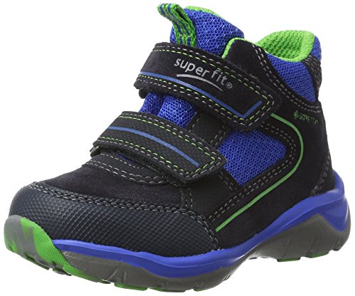 Superfit Jungen SPORT5 Hohe Sneaker, Blau (Ocean Multi), 32 EU
