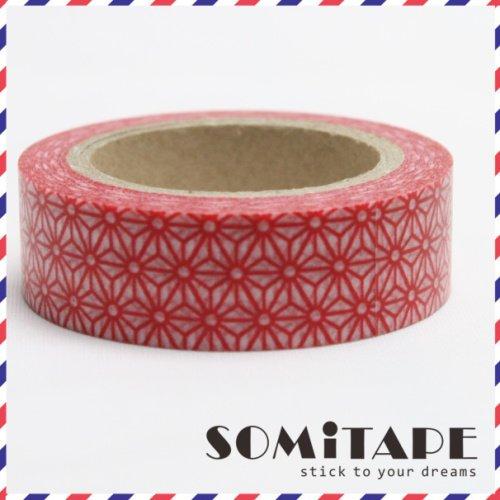 Géométrique bande Red Stars Washi, Artisanat ruban décoratif