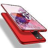 X-level Samsung Galaxy S20 Hülle, [Guardian Serie] Soft Flex Silikon Premium TPU Echtes Handygefühl Handyhülle Schutzhülle für Samsung S20 5G Hülle Cover - Rot