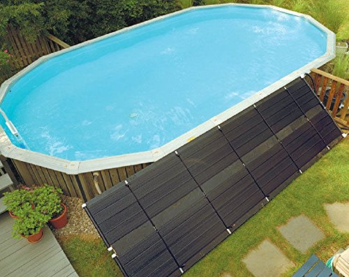 SunHeater Solar Pool Heating System, Two 2' x 20' Panels – Solar Swimming Pool Heater For Inground and Aboveground Pools, Made of Durable Polypropylene, Raises Temperature 6-10°F, S240U