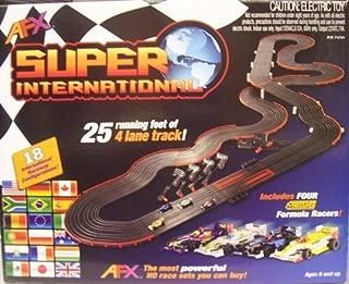AFX 4-Lane Super International Race Set w/Mega G Cars