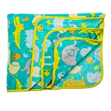 Luvlap Newborn Baby Soft Swaddling Blanket, Turquoise Jungle (80cm x 100cm)