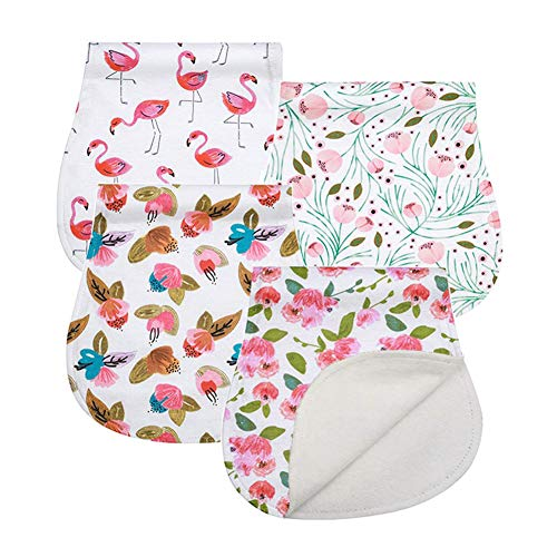 Baby Burp Cloths Set Baby Burp Bibs 4-Pack Feeding Nursing Towel Accessory,...