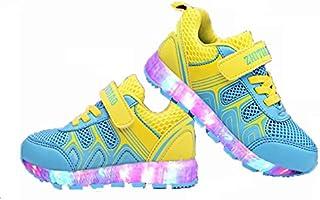 [ノーブランド品] キッズ 子供 男の子 女の子 LEDスニーカー LEDシューズ 男女兼用 光る靴 USB充電可能gx9