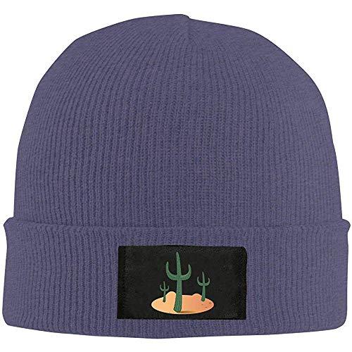 Giles John Desert Cactus Herren Slouchy Beanie Warme Strickmützen Maßgeschneiderte Uhr Hut Baggy Skull Cap