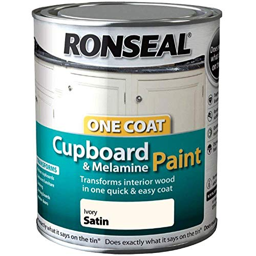 Ronseal 35072 Ivory OC Cupboard Paint Satin 750ML