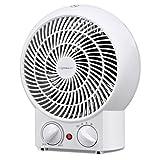 Aigostar Airwin White 33IEK- Ventilatore con termostato registrabile, doppia funzione calda e...