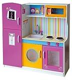 Leomark Grande y Brillante Multi Cocina Madera Infantil de Juguete - Color Rosa -...