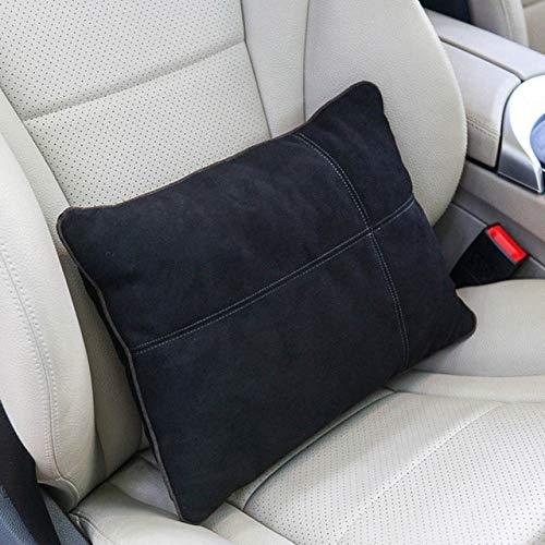 TZYKCN Suede Car Seat rugdeel kussen S Type lendensteun Rest Pillow for Car Seat bureaustoel Blanco Y Gris