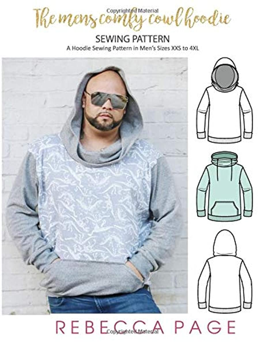 欺慈善用心The Men's Comfy Cowl Hoodie Sewing Pattern & Tutorial: A Hoodie Sewing Pattern in Men's Sizes XXS to 4XL (The Comfy Cowl Sewing Pattern)