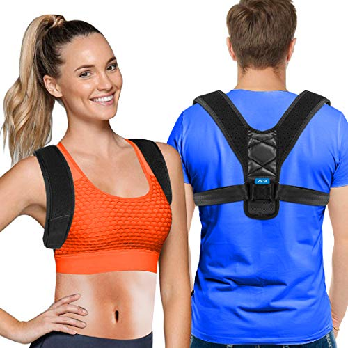 Posture Corrector For Men And Women - Adjustable Upper Back Brace For Clavicle Support and Providing Pain Relief From Neck, Back and Shoulder (Universal)