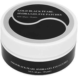 Professioneel oogverzorgingsmasker, 60 stks goud zwarte parel hydra-gel ooglapjes, hydraterende oogmasker voor fijne lijnt...