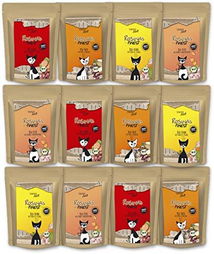 Rosina's Finest Bio Katzenfutter Mischpaket Vito, 3 x 4 Sorten 100 g Pouches