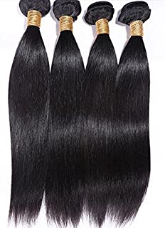 Goood Hair 7a Peruvian Virgin Hair Straight 4pcs/lots Rosa Hair Products 100% Peruvian Human Hair Extensions Bundles Deals Natural Color 50g/ps 4pcs/ Lot Total 200g 4ps Bundles (14 Inch *4 PS)
