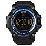 EUTUKEY Smart Watch Men Bluetooth Outdoor Sport Watch Fitness Tracker IP67 Waterproof Remote Camera Smart Band for Android with Android iOS,12 Months Standby Time(Blue)