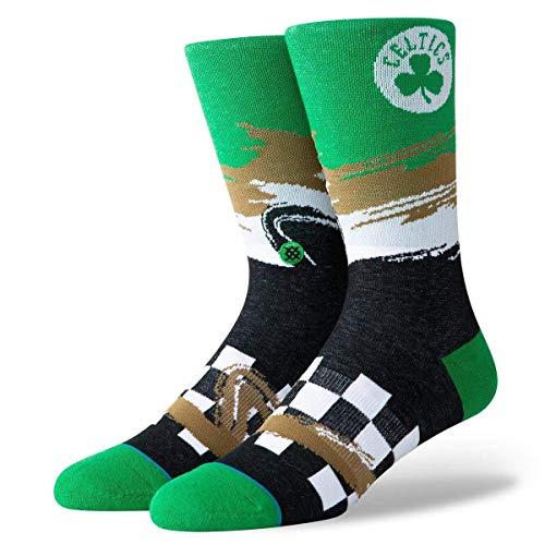 Stance Celtics Wave Racer Calcetines, Hombre, Negro, Medium