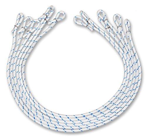 FBS Fahnenschlingen 6 Stück Fahnenführungsringe für Fahnen I Fahnenmasten bis 140 mm Durchmesser