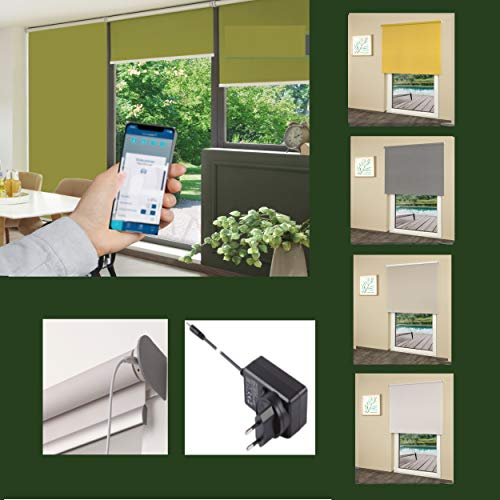 erfal® Rollo SmartControl Powered by Homematic IP_inkl. Ladegerät_Tageslicht (B 90 x H 230 cm)