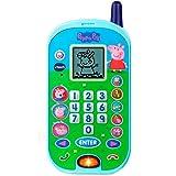 VTech - El teléfono de Peppa Pig, Móvil electrónico interactivo que simula una conversación telefónica, Voces de todos los personajes de la familia, actividades y animaciones (3480-523122)