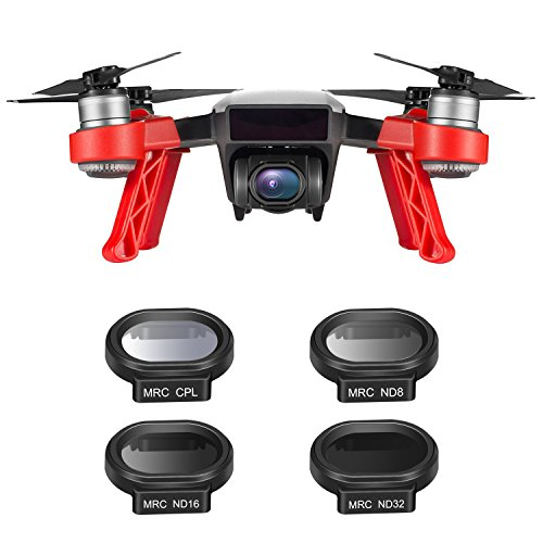 Neewer 4 Peices Drone Lens Filter Kit for DJI Spark Quadcopter, Includes Multi-Coated MC-16 HD ND8, ND16, ND32, CPL Filter with Carrying Case