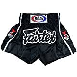 Fairtex Muay Thai Boxing Shorts BS0621 Red Eagle Rank Patch on side, Size M