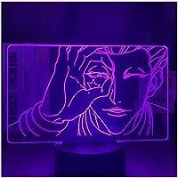 3Dイリュージョンナイトライト アニメ スマートタッチ 子供のためのランプ3Dナイトライト-スマートタッチとUSBケーブル付き7色ナイトライト恋人クリスマスギフト女性のための十代の女の子の家の装飾