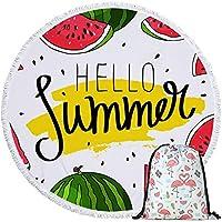 巾着の貯蔵袋のスポーツバスシャワータオルのヨガのマットのヨガのマットのヨガのマットとスイカの夏のスポーツタオル (Color : Towel and Bag 3)
