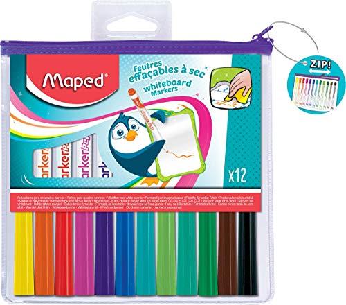 Maped 741817 Whiteboard-Marker Marker'Peps,12er Reiáverschluátasche