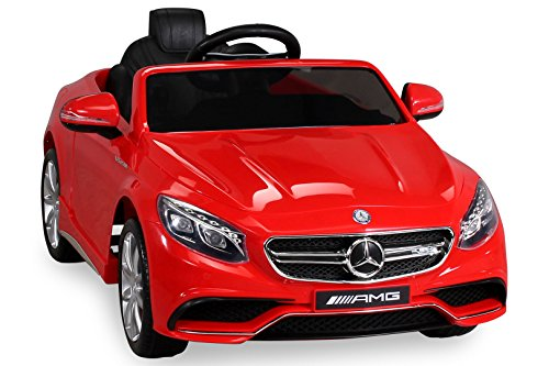 S 63 rot normal Kinderauto Kinderelektroauto Kinderelektrofahrzeug Kinder elektroauto 12V Orginal RC Mercedes s 63 AMG