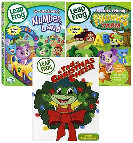 Leapfrog: Phonics Farm/ Leapfrog: Numberland & LeapFrog Presents A Tad of Christmas Cheer - Triple Feature Learning Set.