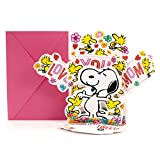 Hallmark Birthday Pop Up Card with Song from Son or Daughter (Peanuts Snoopy and Woodstock Pop Up, Plays Linus and Lucy by Vince Guaraldi), Model Number: 799MDL2023, Mom, Snoopy Music Pop Up
