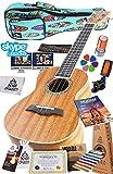 (Concert) - Ukulele Starter Kit (15-FREE-Bonuses) Mahogany Uke, Compression Sponge Case, Aquila Strings, Felt Picks, Tuner, Chord Stamp, Chord Chart, Leather Strap, Live Lesson & More (Limited Time)