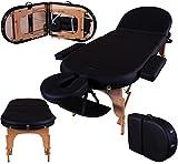 Massage Imperial Monarch Black 3-Section Portable Massage Table 7cm/3' High Density Foam