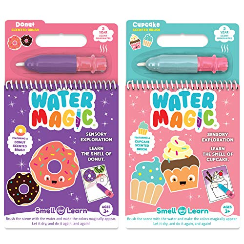 Water Magic - Scented Reusable Water Reveal Activity Pads - No Mess, All Fun (Cupcake and Donut) by Scentco