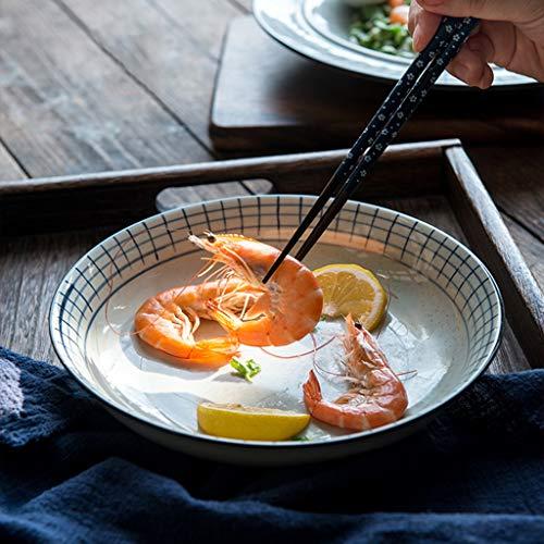 XIUXIU Ménage Simple Vaisselle Japonaise Plat De Bifteck Occidental En Céramique De Haute Qualité Grand Plat De Pâtes Petit Plat De Goût (Taille : 10x2cm)
