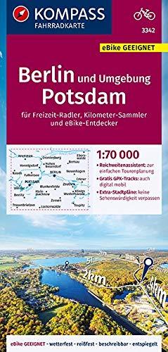 KOMPASS Fahrradkarte Berlin und Umgebung, Potsdam 1:70.000, FK 3342: reiß- und wetterfest mit Extra Stadtplänen (KOMPASS-Fahrradkarten Deutschland, Band 3342)
