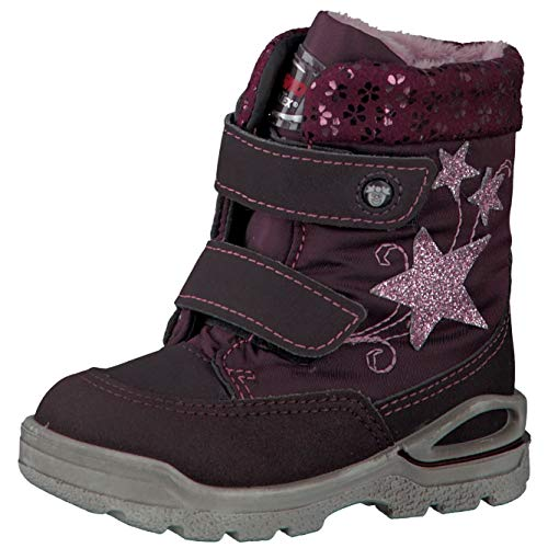 RICOSTA Pepino Mädchen Winterstiefel FINJA, WMS: Weit, wasserfest, Winter-Boots Outdoor-Kinderschuhe warm Kind-er,brombeer/Merlot,25 EU / 7.5 UK