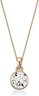 Mestige Women Glass Rose Gold Gabriella Necklace with Swarovski Crystals