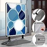 Supporto per Poster A1 - con Ruote, Telaio in Alluminio, Impermeabile, Bifacciale, Base Re...
