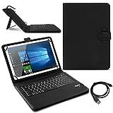 Tablet Hülle für Lenovo TAB3 10 Business/Plus Tasche Tastatur Bluetooth Deutsch QWERTZ Case Schutzhülle Cover 10.1 Zoll