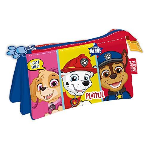 ARDITEX PW13830 Lapicero Portatodo Triple de 21x11cm de Nickelodeon-Patrulla Canina