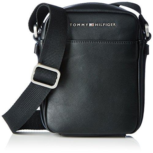 Tommy Hilfiger TH CITY MINI REPORTER, Sacchetto Uomo, Nero (Black), 6x24x29 cm (b x h x t)