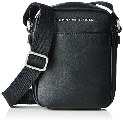 Tommy Hilfiger TH CITY MINI REPORTER, Sac Hommes, Noir (Black), 6x24x29 cm (b x h x t)