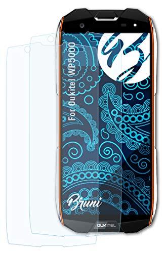 Bruni Schutzfolie kompatibel mit Oukitel WP5000 Folie, glasklare Bildschirmschutzfolie (2X)