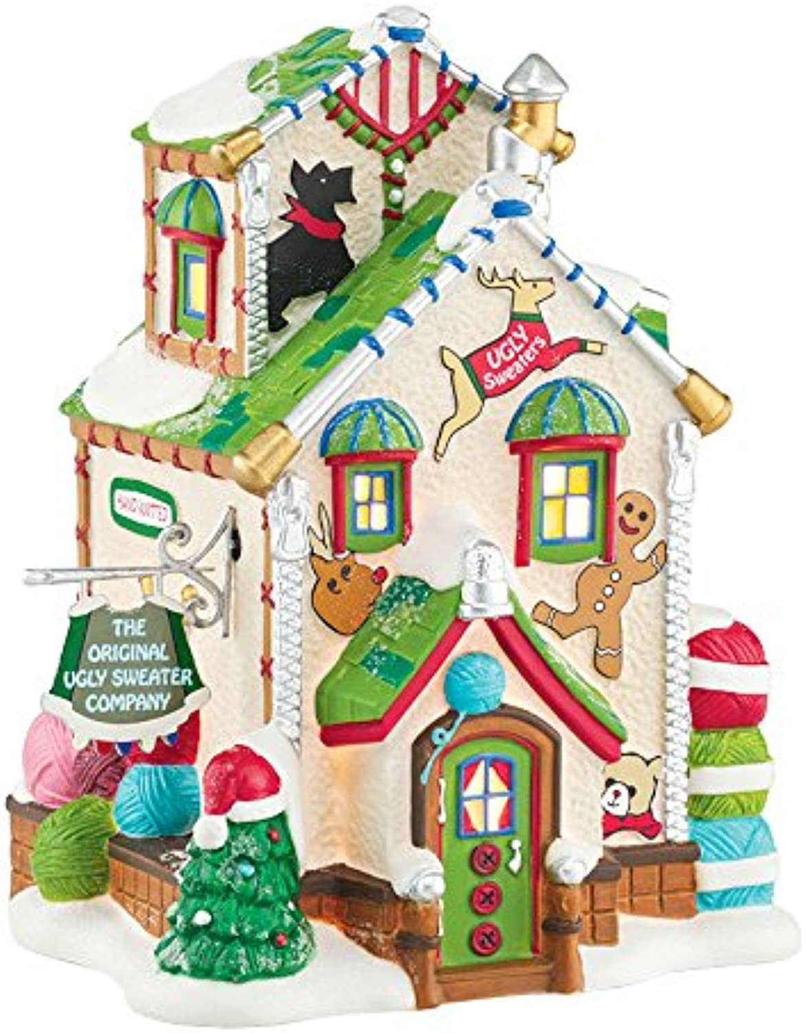Department 56 North Pole Village Original Ugly Sweater Lit House, 6.3